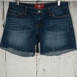 Lucky Brand Riley Shorts Raw Hem Size 8/29